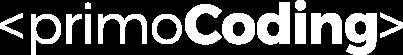Primo Coding Logo White